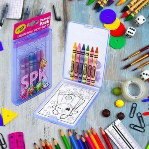 Crayola Shopkins Travel Pack Crayons Art Kit